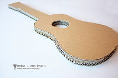 how to make a cardboard guitar: for my butterflies fading craft
