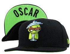sports shoes fbe9c 8165c Sesame Street Snapback Hats Caps Black OSCAR Hats