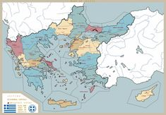 Imaginary Maps, Country Maps, Alternate History, Historical Maps, Land Art, Cartography, Detailed Image, Nerdy, Greece