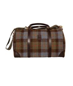 Luggage Harris Tweed  - A beautiful, stylish, classic weekend bag from Glenalmond Tweed