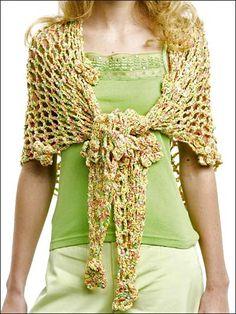 Flower Power Wrap free crochet pattern