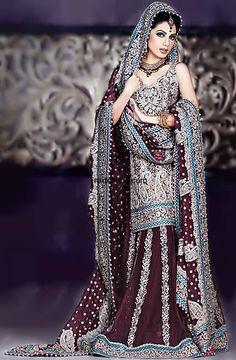 Old Mauve Silver Sharara Wedding Lehenga, Wedding Lehnga, Bridal Lehenga, Bollywood Lehenga, Heavy Embroidered Lehenga Bridal Wear Pakistani Couture, Pakistani Wedding Dresses, Pakistani Outfits, Indian Dresses, Indian Outfits, Shadi Dresses, Dresses 2016, Indian Couture, Asian Wedding Dress