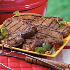 Grilled Marinated Pork Chops Recipe... The marinade left them very moist and tasty!!