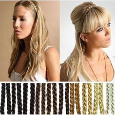 1.20$  Buy here - http://alitt6.shopchina.info/go.php?t=1801069034 - 2PC Wholesale  Fashion Synthetic Hair Plaited Elastic Headband Braided Hair Bands Hair accessories 1.20$ #magazineonlinewebsite