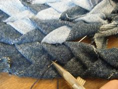 Step 4 braided denim rug