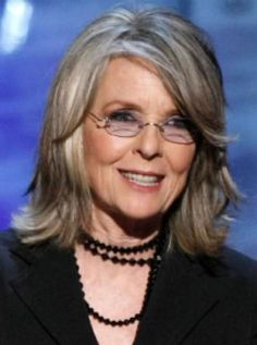 Diane Keaton in her 70's- reminder beauty has no age limit