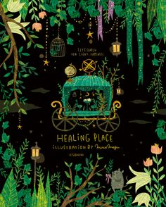 Bildergebnis für healing place illustration by megen Book Cover Art, Book Cover Design, Bg Design, Photocollage, Guache, Beautiful Book Covers, Illustrations And Posters, Children's Book Illustration, Conte