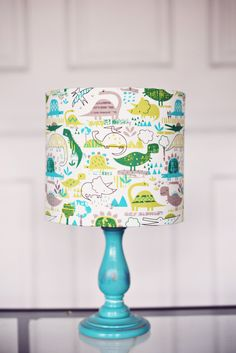 Bedside lamp girls bedroom lamp kids lamp fairy tales nursery dinosaur lampshade dinosaur nursery dinosaur bedroom childrens lampshade nursery lampshade nursery decor kids lamp boys lampshade aloadofball Images