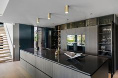 Poliform Artex in grey stained oak, integrated appliances from Gaggenau and Miele, tabletop in composite stone. Grey Stain, Bespoke Kitchens, Tabletop, Kitchen Design, Appliances, Studio, Stone, Furniture, Home Decor