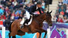 Dirk Schrade of Germany riding King Artus on Day 4 of the London 2012 Olympic Games at Greenwich Park