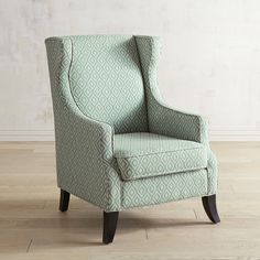 pier 1 imports alec aqua ogee wing chair 350 liked on polyvore featuring