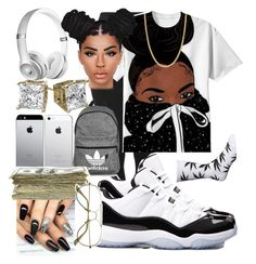 """""""Untitled #169"""" by kklbarnes on Polyvore featuring Topshop, Beats by Dr. Dre, Giani Bernini, adidas, SEN and HUF"""