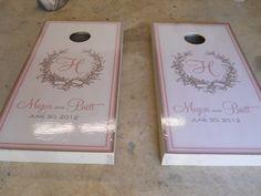 Wedding Cornhole Boards.