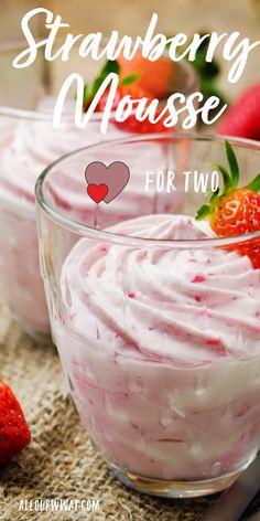 Strawberry Mousse, Strawberry Juice, Strawberry Recipes, Strawberry Sweets, Best Dessert Recipes, Easy Desserts, Delicious Desserts, Healthier Desserts, Lemon Desserts