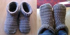 Learn how to crochet slipper boots. They are warm and cozy, perfect for cold mornings. Stitches used: sc - single crochet, slip stitch ch - chain dec (decrea...