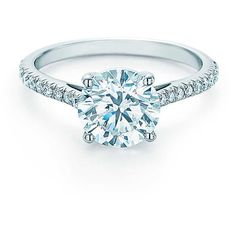 Tiffany Co. Schlumberger Engagement Ring Engagement ❤ liked on Polyvore featuring jewelry, rings, tiffany co jewelry, tiffany co jewellery, round ring, tiffany co rings and pave diamond engagement ring