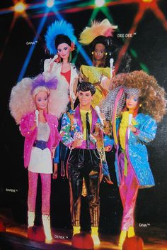 Barbie - Barbie and The Rockers (I still have Barbie, Derek and Diva I think)