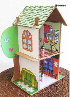 Кукольный домик из картонной коробки - Анюта будет  восторге!!! :) = поискать мастер-классы