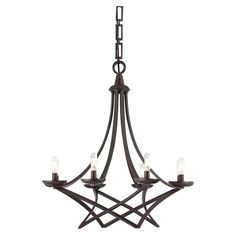 Eight-light chandelier with a bronze finish.   Product: ChandelierConstruction Material: MetalColor:...