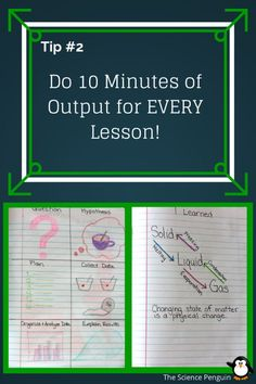 5 Notebook Tips: #2- Do 10 minutes of output for every lesson!