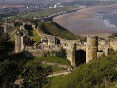 Scarborough Castle in North Yorkshire, UK is a former medieval Royal fortress. The site of the castle encompassing  the Iron Age settlement, Roman signal station, an Anglo-Scandinavian settlement and chapel. The castle itself dates from the 1130s, Built by Henry II