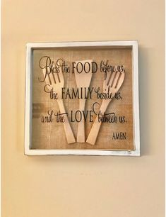 A collection of beautiful wall decor inspirations and DIY art. See more ideas about Affordable home decor, Bricolage and Diy ideas for home. Kitchen Wall Art, Kitchen Decor, Wooden Kitchen, Kitchen Wall Sayings, Diy Kitchen, Kitchen Nook, Country Kitchen, Kitchen Ideas, Kitchen Design