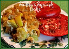 Sharon's Summer Squash Bake! Recipe Side Dishes with yellow squash, sweet onion, olive oil, cajun seasoning, black pepper, grated parmesan cheese, shredded cheddar cheese, sour cream, butter crackers, butter