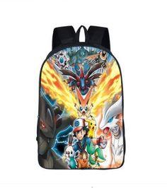 NEW Pokemon Anime Backpack Girls School Bag Boys Shoulders Bag Travel Bag Gift