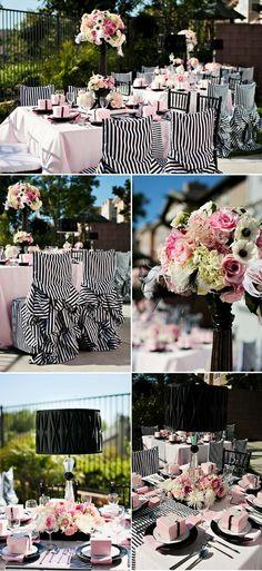 Pink and black bridal shower...