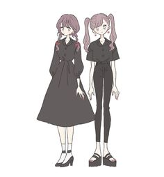 Sad Anime Girl, Kawaii Anime Girl, Anime Art Girl, Cute Anime Character, Character Art, Anime Drawing Styles, Girly Drawings, Cartoon Profile Pictures, Art Costume