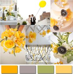 Gray and Yellow Wedding Colors-2014 Wedding Trends Part 3 | www.MadamPaloozaEmporium.com www.facebook.com/MadamPalooza