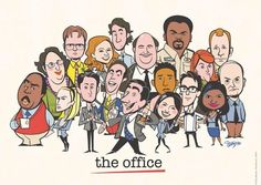 Big fan of the T.V series The Office? Looking for some cool posters? Check out this amazing The Office Poster Collection. Office Memes, Office Quotes, Office Cast, Office Cartoon, The Office Characters, Cartoon Characters, The Office Show, Office Wallpaper, Office Artwork