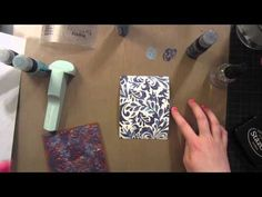 A Video by Britta using distress Paints and Some Fun Techniques using Supplies Found in the Simon Says Stamp Store. 2013