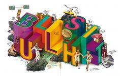 hohe luft. bullshit. hohe luft, illustration, rocket + wink, 2012, letters, typo, 3d, colour, new, neu, isometrie