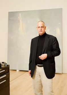 Portrait of Luc Tuymans at SFMOMA