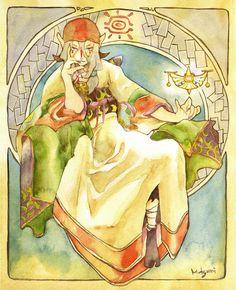 "From Japanese Animation ""Mononoke"" Watercolor Illustration. It is a parody of ""Princess Hyacinth"" Mononoke:Mucha style Kusuriuri Anime Art Fantasy, Ghibli Movies, Lol League Of Legends, Pet Shop, Watercolor Illustration, Character Art, Horror, Animation, Fan Art"