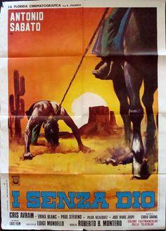 Sentence Of God Italian poster. 1972 Western with Antonio Sabato