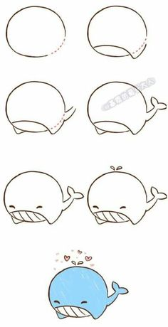 How To Draw Fish Step By Step Animals 29 Best Ideas Easy Doodles Drawings, Easy Doodle Art, Cute Easy Drawings, Fish Drawings, Simple Doodles, Kawaii Drawings, Simple Animal Drawings, How To Doodle, How To Draw Doodles Easy