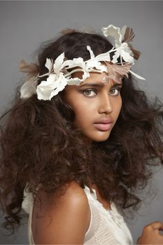 Feathered Whirl Halo in SHOP Sale Headpieces at BHLDN
