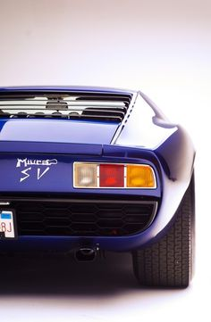 Miura SV ... possibly one of the most beautiful cars ever made