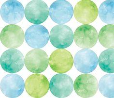 Ocean Dots fabric by pattysloniger on Spoonflower - custom fabric