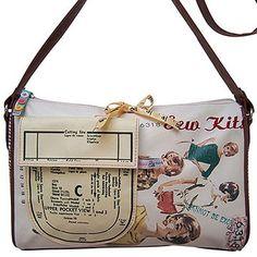 Needle & Thread Handbag -  vintage sewing