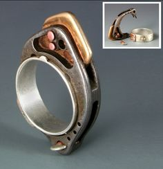 Removable Damascus Ring