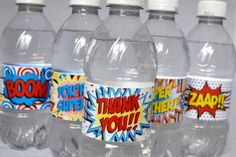 Super Teacher Super Hero Teacher Appreciation Printable Water Bottle Wrappers, wrap up some water bottles and put them in the teacher's lounge to let all the teachers know how super they are this teacher appreciation week!