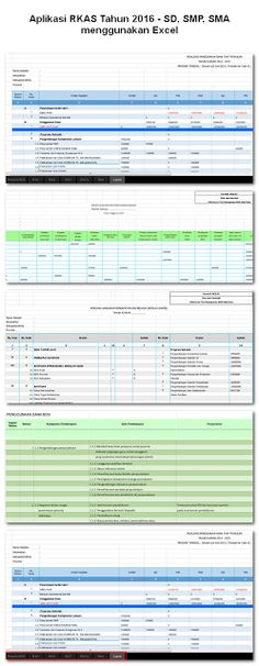 Aplikasi RKAS Tahun 2016 - SD SMP SMA menggunakan Excel