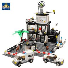 Kazi Police Station Scale Model Building Blocks Legoelieds Compatible Bricks Toys Simulation Car And Motorcycle Mini Figures-in Blocks from Toys & Hobbies on Aliexpress.com | Alibaba Group