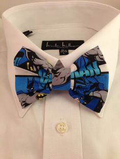 Hey, I found this really awesome Etsy listing at https://www.etsy.com/listing/117995438/batman-comic-print-bowtie-bow-tie