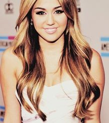 When Miley had long hair. Loved the color and wavy style she always wore.