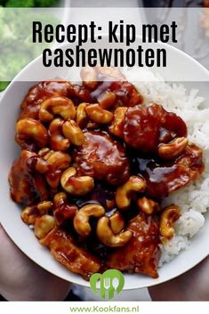 Recept: kip met cashewnoten Crispy chicken in a sweet, savory sauce: come on! Clean Eating Diet, Clean Eating Recipes, Cooking Recipes, Diner Recipes, Easy Diner, Asian Recipes, Healthy Recipes, Vegetable Soup Healthy, Healthy Slow Cooker