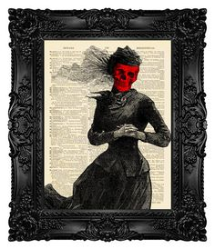The Masque of the Red Death  ORIGINAL by MadameBricolagePrint
